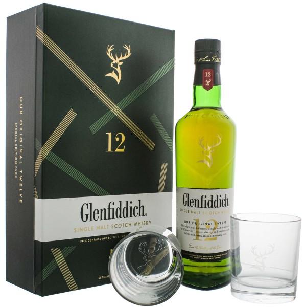 Glenfiddich Single Malt Whisky 12 Jahre 0,7L 40% Set mit 2 Gläser