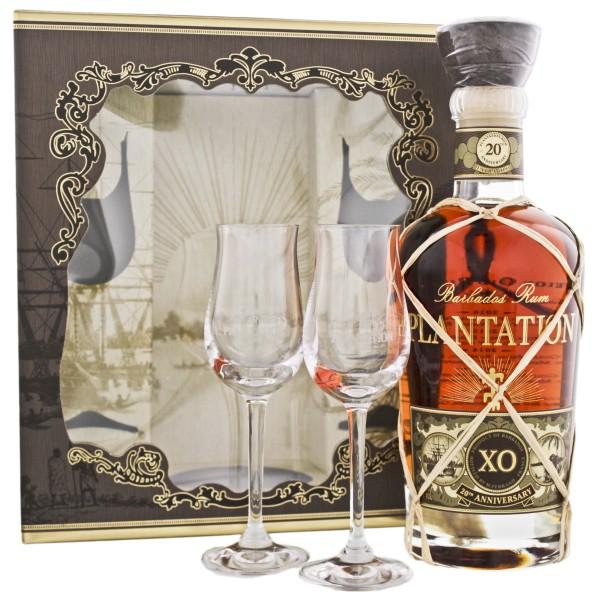 Plantation Rum Barbados Extra Old 20th Anniversary 0,7L 40% inkl. 2 Gläser