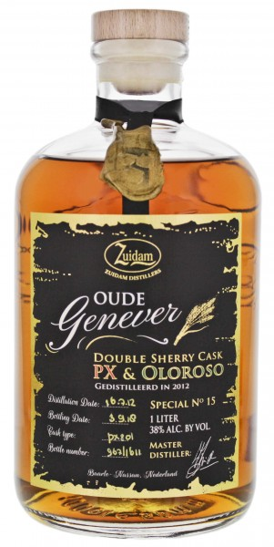 Zuidam Oude Genever Double Sherry 2012 / 2018 Limited Edition 1,0L 38%