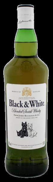 Black & White Blended Scotch Whisky 1,0L 40%