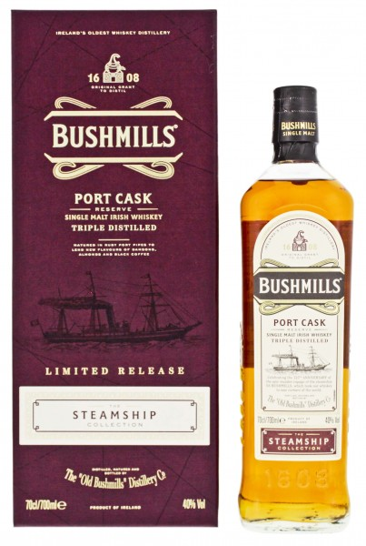Bushmills Irish Whisky Steamship collection Port Cask Reserve Limited Release 0,7L 40%