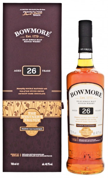 Bowmore Single Malt Whisky 26 Years The Vintners Trilogy French Oak Barrique 0,7L 48,7%