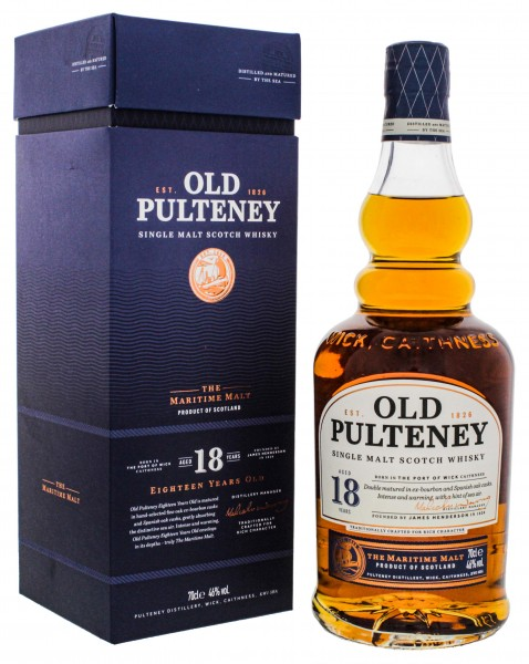 Old Pulteney Single Malt Whisky 18 Jahre 0,7L 46%
