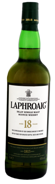 Laphroaig Single Malt Whisky 18 Years, 0,7 L, 48%