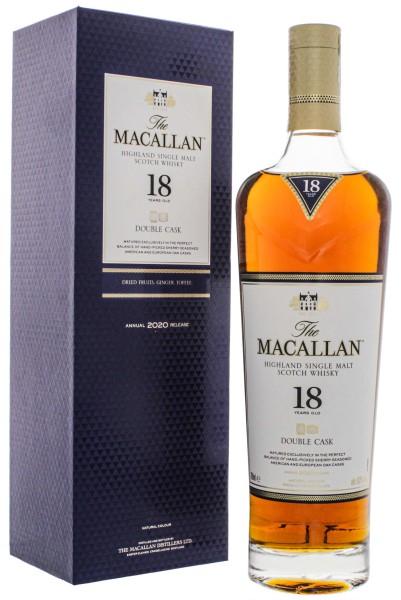 Macallan Single Malt Whisky Double Cask 18 Jahre 0,7L 43%