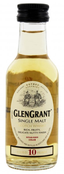 Glen Grant 10 Jahre Malt Whisky Miniatur 0,05L 40%