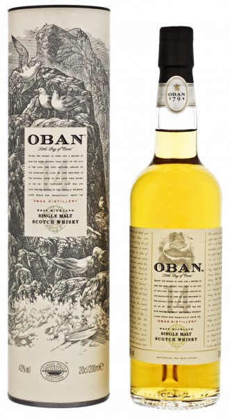 Oban Single Malt Whisky 14 Years Old, 0,2 L, 43%