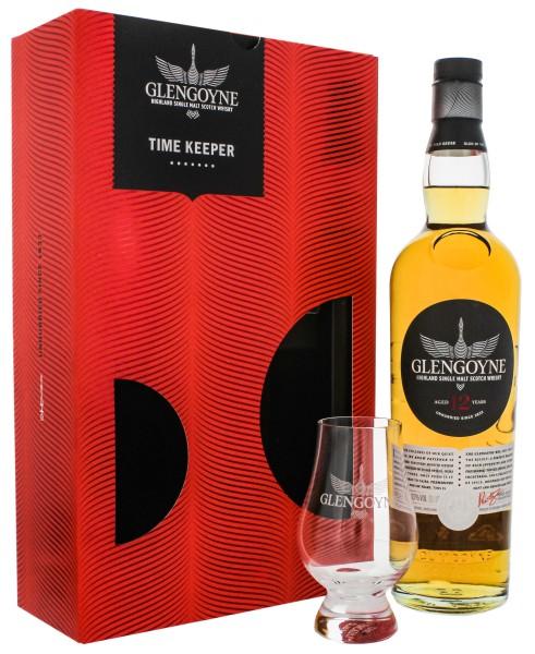 Glengoyne 12 Jahre Time Keeper Set mit Glas 0,7L 43%