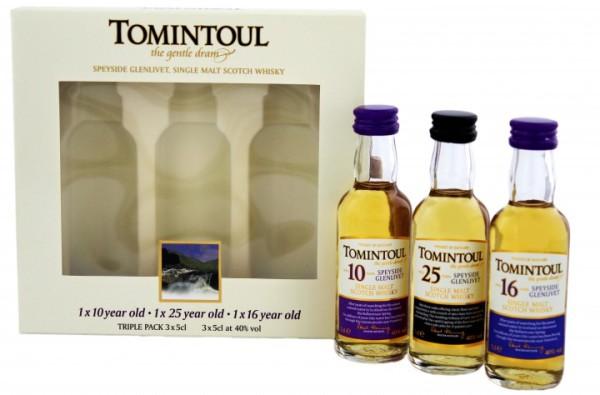 Tomintoul Triple Pack (10 Jahre / 16 Jahre / 25 Jahre) Miniatures