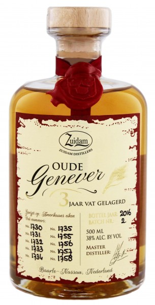 Zuidam Oude Genever 3 Jahre, 0,5 L 38%