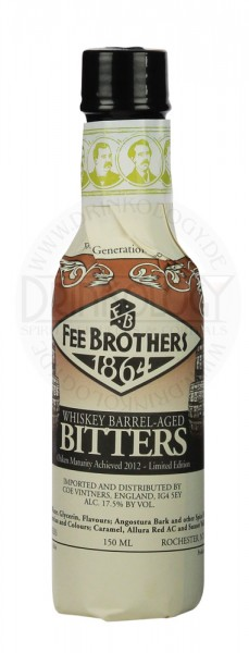 Fee Brothers Whiskey Barrel Aged Bitters, 0,15 L, 17,5%