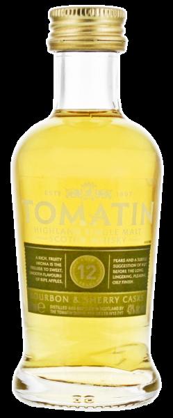 Tomatin Single Malt Whisky 12 Jahre 0,05L 43%