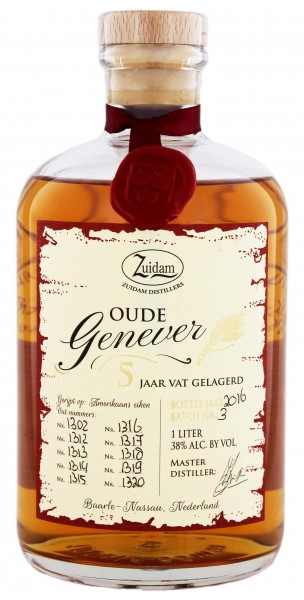 Zuidam Oude Genever 5 Jahre, 1 L 38%