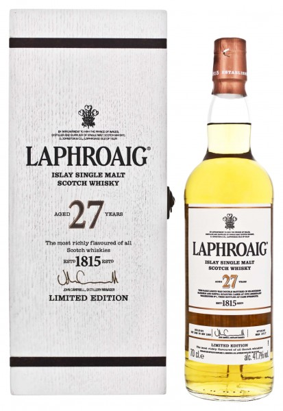 Laphroaig Islay Single Malt Whisky 27 Jahre Cask Strength 0,7L 41,7%