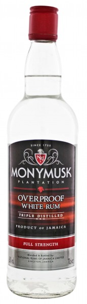 Monymusk Plantation Overproof White Rum 0,7L 63%