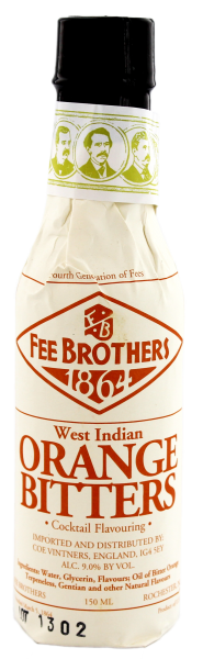 Fee Brothers West Indian Orange Bitters, 0,15 L, 9%
