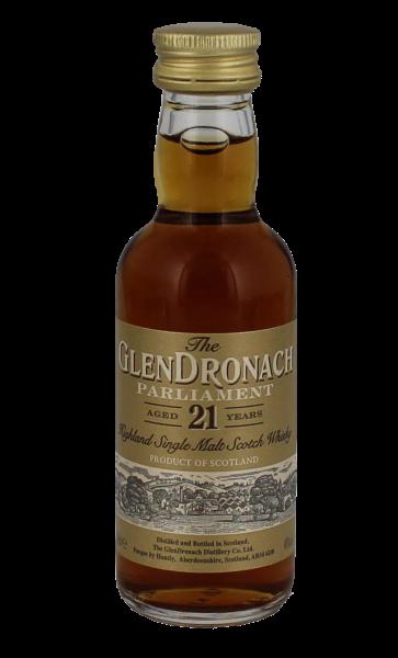 Glendronach Single Malt Whisky Parliament 21 Jahre Miniatur, 0,05 L, 48%