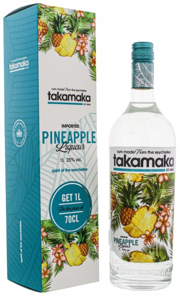 Takamaka Pineapple Liqueur, 1,0L 25%