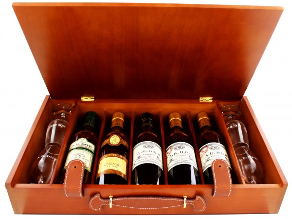 A.E. Dor Cognac Coffret Weekend 5 x 0,35L 41,8%