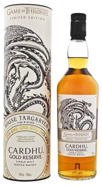 Cardhu Gold Reserve Single Malt Whisky Game of Thrones House Targaryen 0,7L 40%
