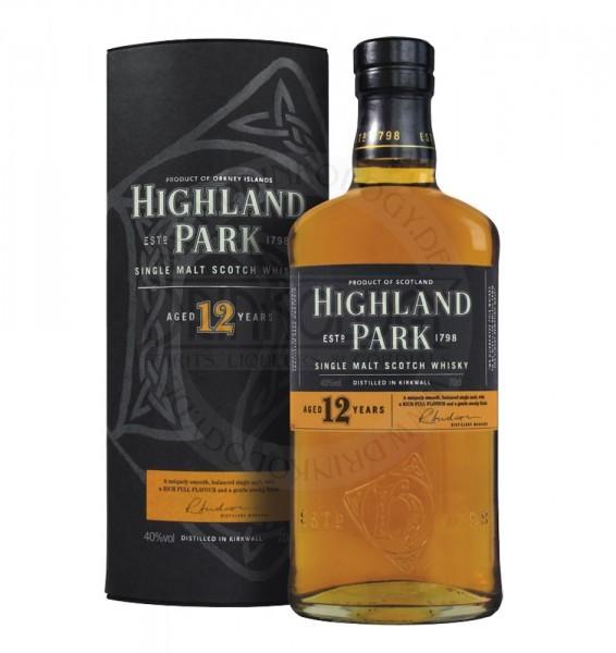 Highland Park Single Malt Whisky 12 Years Old, 0,7L, 40%