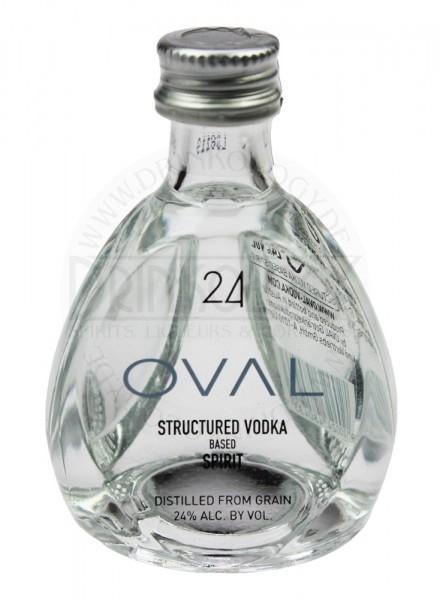 Oval Vodka Spirit Miniature 24