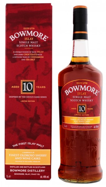Bowmore 10 Jahre Malt Whisky Limited Edition 1,0L 46%