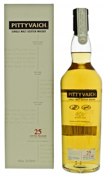 Pittyvaich Single Malt Whisky 1989 25 Years Special Release 0,7L 49,9%