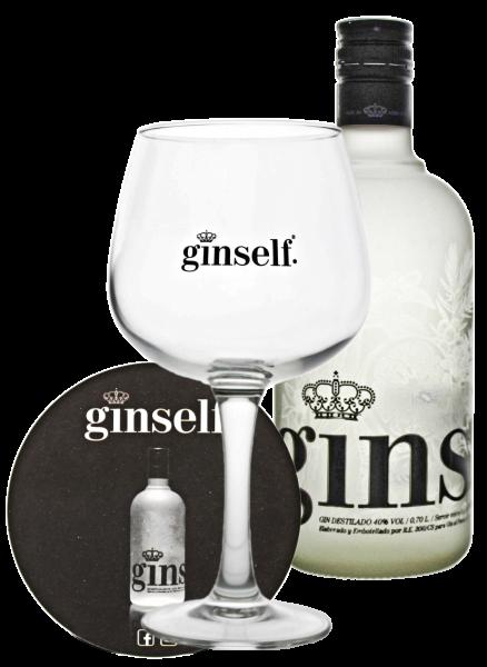 Ginself Gin 0,7L 40% inkl Glas und Untersetzer