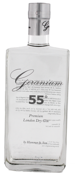Geranium 55° London Dry Gin, 0,7 L, 55%