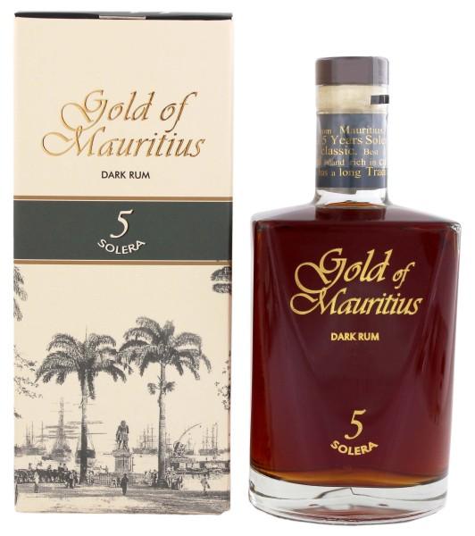 Gold of Mauritius Dark Rum Solera 5 0,7L 40%