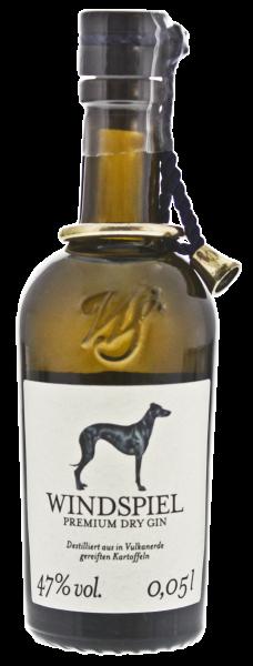 Windspiel Premium Dry Gin Miniatur Exklusiv 0,05L 47%