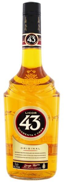 Licor 43 Cuarenta y Tres Liqueur 1,0L 31%