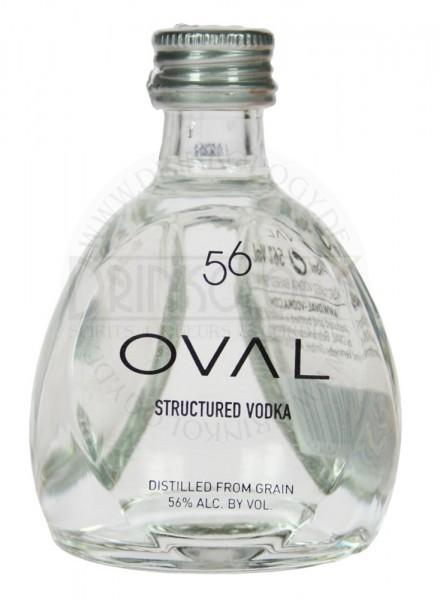Oval Vodka Structured Miniature 56