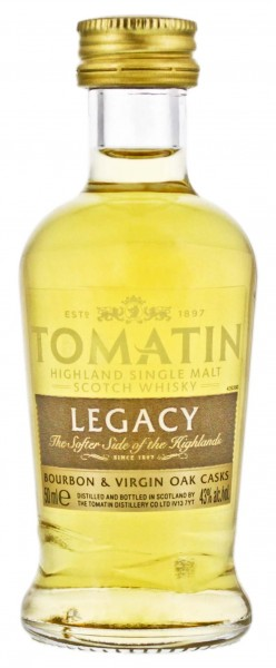 Tomatin Single Malt Whisky Legacy Miniatur 0,05L 43%