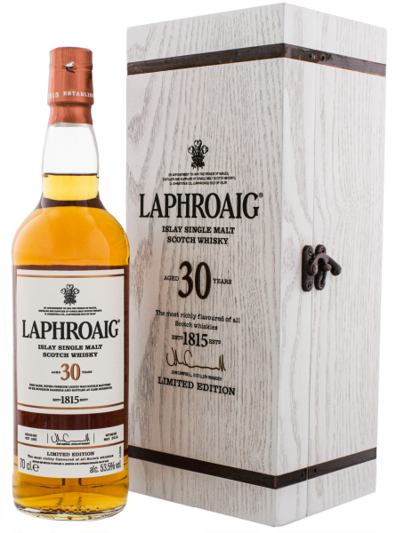Laphroaig Single Malt Whisky 30 Jahre 0,7L 53,5%