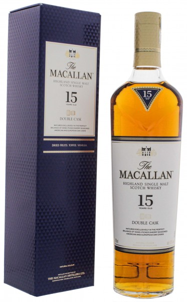Macallan Single Malt Whisky Double Cask 15 Jahre 0,7L 43%