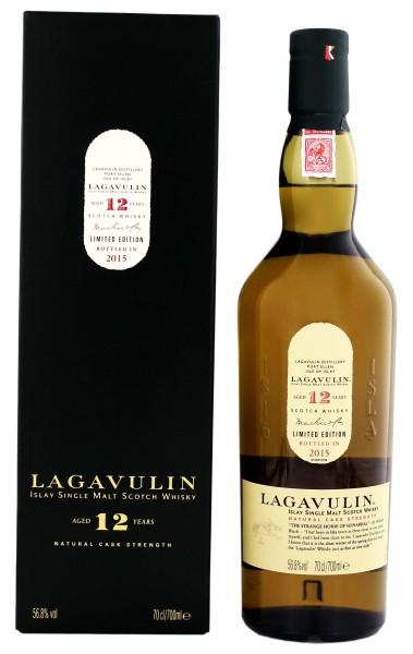 Lagavulin Single Malt Whisky 12 Jahre Cask Strength , 0,7 L, 56,8%