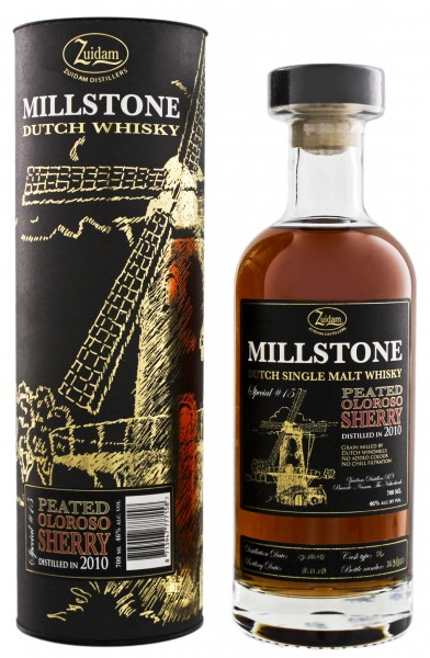 Zuidam Millstone Single Malt Whisky Peated Oloroso Sherry 2010/2018 Special No.15 0,7L 46%